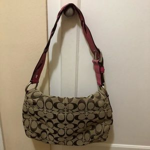 Coach Bags - Coach Signature Soho Flap Pocket Bag Khaki Berry